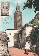 Algérie FDC Carte Maximum - Yvert 362 Surchargé EA -  Mosquée De Tlemcen - Alger 6/8/1962