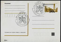 752-CZECHOSLOVAKIA Prepaid Postal Card 1st Visit Of Pope John Paul II. Commemorative Stamp Bratislava 1990