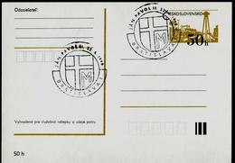 753-CZECHOSLOVAKIA Prepaid Postal Card 1st Visit Of Pope John Paul II. Commemorative Stamp Bratislava 1990