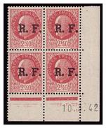 Coin Daté Petain 2F40 Surchargé RF 10.3.42. LYON - Liberation