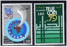 """Algérie N ° 701 / 02 XX """"Télécom 79"""" Exposition Internationale à  Genève La Paire Sans Charnière TB"""