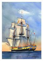 CP Inédite - Carte-Postale De Navire Marine  - Frégate - L´HERMIONE - Guerre