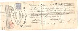 Document Administration Des Postes Bureau De Lodelinsart+Reçu De 112,10 Frs TP 60 C.Lodelinsart 4/6/1896 PR3998 - Documents Of Postal Services