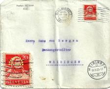 """Perfin Brief  """"Postfach 20391, (Volksbank) Biel""""           1925"""