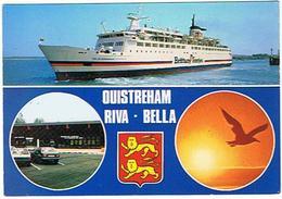 OUISTREHAM  RIVA BELLA  CAR FERRY  LANCEMENT DE LA LIGNE OUISTREHAM PORTSMOUTH LE 06 JUIN 1986    ***  A   SAISIR  ***** - Ferries