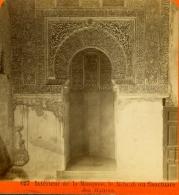 Espagne - Photo Stéréo Fin XIXème Intérieur Grenade Mosquée Alhambra, Lib. Gangloff Mulhouse Tirage Albuminé Ca. 1880 - Photos Stéréoscopiques