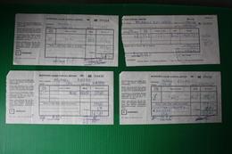 ROMANIA -  RICEEVUTE CAMBIO VALUTA  1971 - Assegni & Assegni Di Viaggio