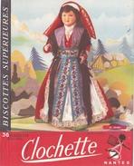 Buvard  Biscottes Clochette - Nantes (France 44 ) -poupée Bearne  - - Alimentaire