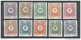 "Nle-Caledonie Taxe YT 39 à 48 "" Chiffre-Taxe "" 1948 Neuf**"