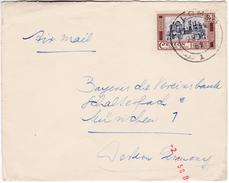 857 Sri Lanka Ceylon Lettre Posted 1958 Colombo To Germany Single Franked Ruins Of Medirigiriya
