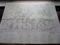 Belgie Stafkaart SINT-TRUIDEN 33 - 1/50.000 M736 - 1980 ! - Europe
