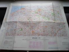 Belgie Stafkaart BRUGGE C 6 - 1/100.000 M 632 - 1954 ! - Europe