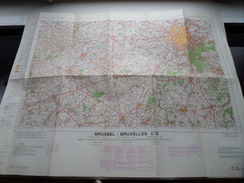 Belgie Stafkaart BRUSSEL - BRUXELLES C 12 - 1/100.000 M 632 - 1954 ! - Europe