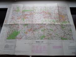 Belgie Stafkaart MONS C 16 - 1/100.000 M 632 - 1955 ! - Europe