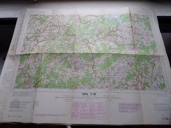 Belgie Stafkaart SPA C 18 - 1/100.000 M 632 - 1955 ! - Europe