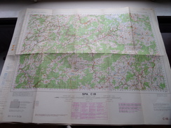 Belgie Stafkaart SPA C 18 - 1/100.000 M 632 - 1955 ! - Europa
