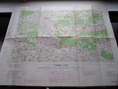 Belgie Stafkaart CHIMAY C 20 - 1/100.000 M 632 - 1955 ! - Europa