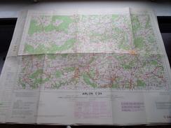 Belgie Stafkaart ARLON C 24 - 1/100.000 M 632 - 1955 ! - Europa