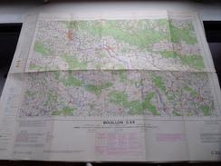 Belgie Stafkaart BOUILLON C 23 - 1/100.000 M 632 - 1955 ! - Europa