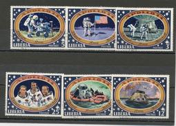 LIBERIA  : - APOLLO 14 -  N° Yvert  520/525  Obl
