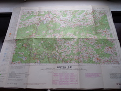 Belgie Stafkaart BERTRIX C 21 - 1/100.000 M 632 - 1955 ! - Europe