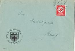 23285. Carta Servicio Dientsmarke PLUDERHAUSEN (Alemania Reich)  1942 - Oficial