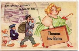74 - THONON LES BAINS - Carte Systéme Avec Ses Dix Vues (le Gosse Pleure, Montre-lui...) - Thonon-les-Bains