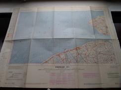België Stafkaart KNOKKE C 1 - 1/100.000 M 632 - 1955 ! - Europe