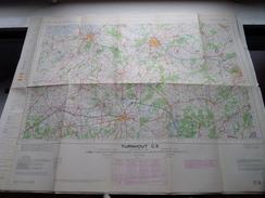 België Stafkaart TURNHOUT C 3 - 1/100.000 M 632 - 1955 ! - Europa