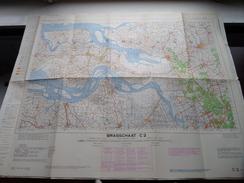 België Stafkaart BRASSCHAAT C 2 - 1/100.000 M 632 - 1955 ! - Europe