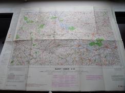 België Stafkaart SAINT-OMER C 10 - 1/100.000 M 632 - 1955 ! - Europe