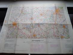 België Stafkaart ANTWERPEN C 7 - 1/100.000 M 632 - 1955 ! - Europa
