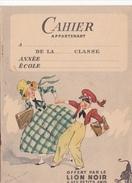 Carnet Ecole Ecolier -offert Lion NOir -publicite Cirage Vildo Argentil -encaustique Eclipse -chat -dessin Georges Bourd