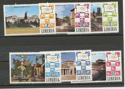 LIBERIA  : - JO DE MUNICH -  N° Yvert  528/533  Obl
