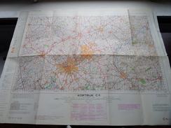 België Stafkaart KORTRIJK C 11 - 1/100.000 M 632 - 1955 ! - Europa