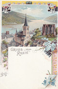 Gruss Vom Rhein - Litho - Sign. R. Joost 1898     (PA-18-130210) - Greetings From...