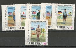 LIBERIA  : - SCOUTS -  N° Yvert  534/539  Obl