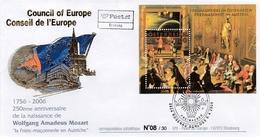 250th Anniversary Of Mozart's Birth. Freemasonry In Austria. Masonic Postmark. FDC.  No. 8 Of 30