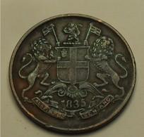 1835 - Inde Britannique - East India Company - ONE QUARTER ANNA, KM 446.2 - Inde