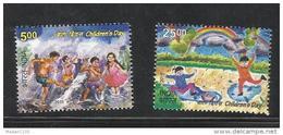 INDIA, 2015, Children´s Day, Childrens, Set 2 V, Rainbow, Rain, Tree, MNH, (**)