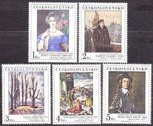 CZECHOSLOVAKIA 1985, Complete Set, MNH. Michel 2841-2845. PAINTING - GINOVSKY, SLADKY, RABAS, GRIEN, HALS.