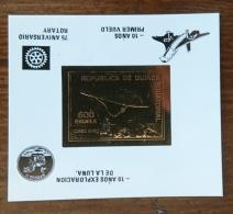 GUINEE EQUATORIALE Rotary, Concorde. Apollo, Bloc OR Avec Surcharge Inversée ** MNH