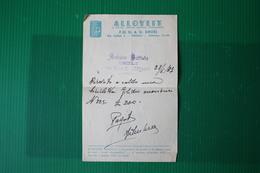 """""""BATTISTA ARDUINO CICLI"""" CHIVASSO - SU CARTA PUBBLICITARIA ALLOYLIT  - 1937 - Italia"""