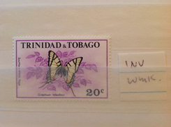 Trinidad And Tobago 1972 20c Butterfly  (inverted Watermark) MNH SG 411w