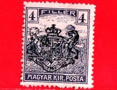 UNGHERIA - Nuovo - 1919 - Agricoltura - Raccolti - Mietitore - Reaper - Sovrastampato - 4