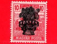 UNGHERIA - Nuovo - 1919 - Agricoltura - Raccolti - Mietitore - Reaper - Sovrastampato - 10