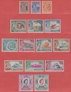 1955 ** (sans Charn., MNH, Postfrish)   Yv  156/70       Mi  164/78     SG 173/85  (15v)