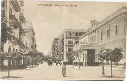 Egypt Egypte Port Said Post Office Street - Port Said