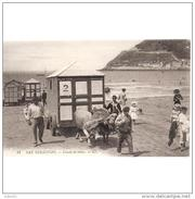 GPCATP6872CP-LFTM7138TASC.Tarjeta Postal DE GUIPUZCOA.Playa,animales,bueyes.CASETAS DE BAÑO En SAN SEBASTIAN. - Animales