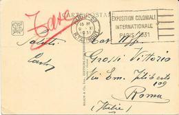 1931 EXPOSITION COLONIALE INTERNATIONALE PARIS - PALAIS PRINCIPAL DE L'ITALIE - Briefe U. Dokumente